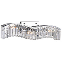CWI Lighting 8004W25C-A-(CLEAR) Glamorous 3 Light 5 inch Chrome Wall Sconce Wall Light
