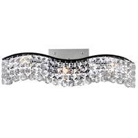 CWI Lighting 8004W25C-B-(CLEAR) Glamorous 3 Light 5 inch Chrome Wall Sconce Wall Light