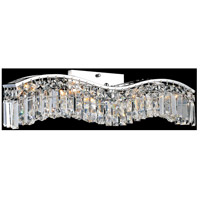 CWI Lighting 8004W30C-A-(CLEAR) Glamorous 5 Light 5 inch Chrome Wall Sconce Wall Light