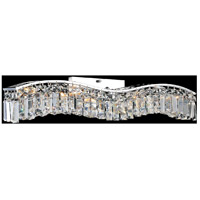 CWI Lighting 8004W44C-A-(CLEAR) Glamorous 7 Light 5 inch Chrome Wall Sconce Wall Light