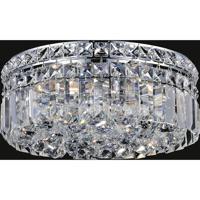 CWI Lighting 8005C12C-R Colosseum 4 Light 12 inch Chrome Flush Mount Ceiling Light
