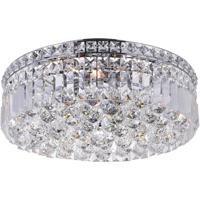CWI Lighting 8005C14C-R Colosseum 4 Light 14 inch Chrome Flush Mount Ceiling Light