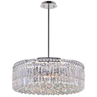 Colosseum 10 Light 24 inch Chrome Chandelier Ceiling Light