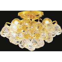 CWI Lighting 8008C12G Glimmer 3 Light 12 inch Gold Flush Mount Ceiling Light