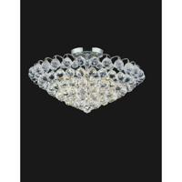 CWI Lighting 8008C22C Glimmer 8 Light 22 inch Chrome Flush Mount Ceiling Light