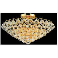CWI Lighting 8008C22G Glimmer 8 Light 22 inch Gold Flush Mount Ceiling Light