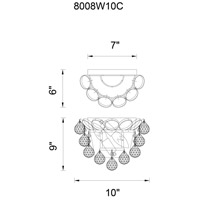 CWI Lighting 8008W10G Glimmer 2 Light 6 inch Gold Wall Light