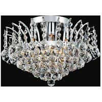 CWI Lighting 8010C16C Posh 4 Light 16 inch Chrome Flush Mount Ceiling Light