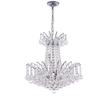 Posh 11 Light 20 inch Chrome Chandelier Ceiling Light