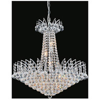 Posh 11 Light 24 inch Chrome Chandelier Ceiling Light