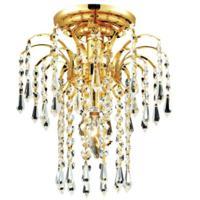 CWI Lighting 8011C9G Palm Tree 1 Light 9 inch Gold Flush Mount Ceiling Light