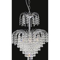 CWI Lighting 8011P14C Palm Tree 7 Light 14 inch Chrome Chandelier Ceiling Light