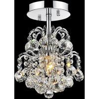 CWI Lighting 8015C9C-R Blossom 1 Light 9 inch Chrome Flush Mount Ceiling Light