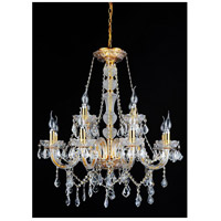 CWI Lighting 8023P30G Princeton 12 Light 30 inch Gold Chandelier Ceiling Light