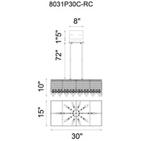 CWI Lighting Chrome Colosseum Chandeliers