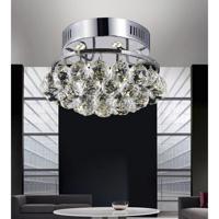 CWI Lighting 8038C12C-R Queen 3 Light 11 inch Chrome Flush Mount Ceiling Light