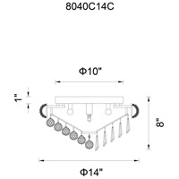 CWI Lighting 8040C14C Kingdom 4 Light 14 inch Chrome Flush Mount Ceiling Light