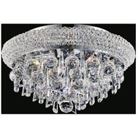 CWI Lighting 8040C16C Kingdom 6 Light 16 inch Chrome Flush Mount Ceiling Light
