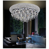 CWI Lighting 8040C24C Kingdom 9 Light 24 inch Chrome Flush Mount Ceiling Light