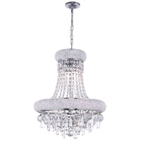 CWI Lighting 8040P16C Kingdom 6 Light 16 inch Chrome Chandelier Ceiling Light