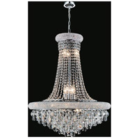 CWI Lighting 8040P20C Kingdom 9 Light 20 inch Chrome Chandelier Ceiling Light