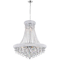 CWI Lighting 8040P24C Kingdom 13 Light 24 inch Chrome Chandelier Ceiling Light