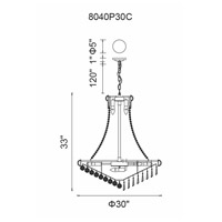CWI Lighting 8040P30C Kingdom 18 Light 30 inch Chrome Chandelier Ceiling Light