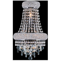 CWI Lighting 8040W12C-B Kingdom 3 Light 7 inch Chrome Wall Sconce Wall Light