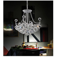 CWI Lighting 8041P12C-S Jasmine 4 Light 12 inch Chrome Mini Chandelier Ceiling Light