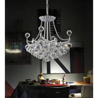 CWI Lighting 8041P14C-S Jasmine 4 Light 14 inch Chrome Chandelier Ceiling Light