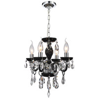 CWI Lighting 8272P14C-4-(BLACK) Princeton 4 Light 14 inch Chrome Pendant Ceiling Light