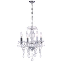 CWI Lighting 8276P14C-4-(CLEAR) Princeton 4 Light 14 inch Chrome Pendant Ceiling Light