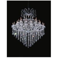 CWI Lighting 8311P64C-55 (CLEAR)-B Maria Theresa 55 Light 64 inch Chrome Up Chandelier Ceiling Light
