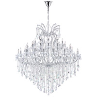 CWI Lighting 8311P64C-55-(CLEAR)-B Maria Theresa 55 Light 64 inch Chrome Chandelier Ceiling Light