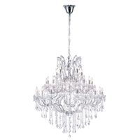 CWI Lighting 8318P50C-41-(CLEAR)-B Maria Theresa 41 Light 50 inch Chrome Chandelier Ceiling Light