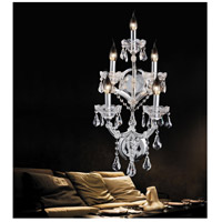 CWI Lighting 8318W12C-5-(CLEAR) Maria Theresa 5 Light 14 inch Chrome Wall Sconce Wall Light