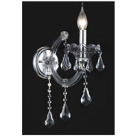 CWI Lighting 8318W5C-1-(SMOKE) Maria Theresa 1 Light 5 inch Chrome Wall Sconce Wall Light