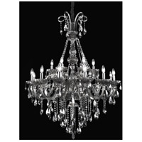 CWI Lighting 8393P39C-18-(BLACK) Casper 18 Light 39 inch Chrome Chandelier Ceiling Light