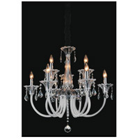 CWI Lighting 8394P28C-9 Melanie 9 Light 28 inch Chrome Up Chandelier Ceiling Light
