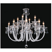 CWI Lighting 8394P33C-12 Melanie 12 Light 33 inch Chrome Up Chandelier Ceiling Light