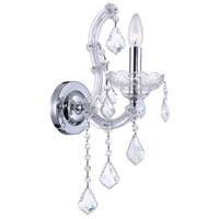 CWI Lighting 8397W5C-1(CLEAR) Maria Theresa 1 Light 10 inch Chrome Wall Sconce Wall Light