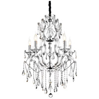 CWI Lighting 8398P32C-9-(CLEAR) Abby 9 Light 32 inch Chrome Chandelier Ceiling Light