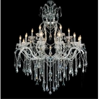 CWI Lighting 8398P44C-19-(CLEAR) Abby 19 Light 44 inch Chrome Chandelier Ceiling Light