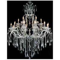 Abby 19 Light 44 inch Chrome Chandelier Ceiling Light