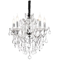 CWI Lighting 8399P22C-5-(CLEAR) Riley 5 Light 22 inch Chrome Chandelier Ceiling Light