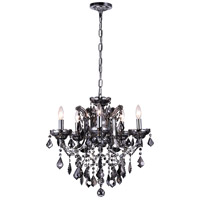 CWI Lighting 8399P22C-5-(SMOKE) Riley 5 Light 22 inch Chrome Chandelier Ceiling Light