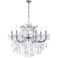 CWI Lighting 8399P26C-6-(CLEAR) Riley 6 Light 26 inch Chrome Chandelier Ceiling Light