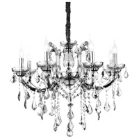 CWI Lighting 8399P28C-8-(CLEAR) Riley 8 Light 28 inch Chrome Chandelier Ceiling Light