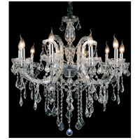 CWI Lighting 8399P32C-10-(CLEAR) Riley 10 Light 32 inch Chrome Chandelier Ceiling Light