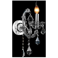 CWI Lighting 8399W5C-1-(SMOKE) Riley 1 Light 5 inch Chrome Wall Sconce Wall Light
